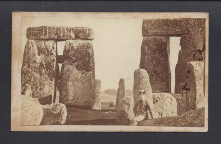 Early Victorian Antique CDV Photo of Stonhenge 1876